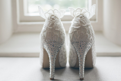Bridal shoes with a bit of bling