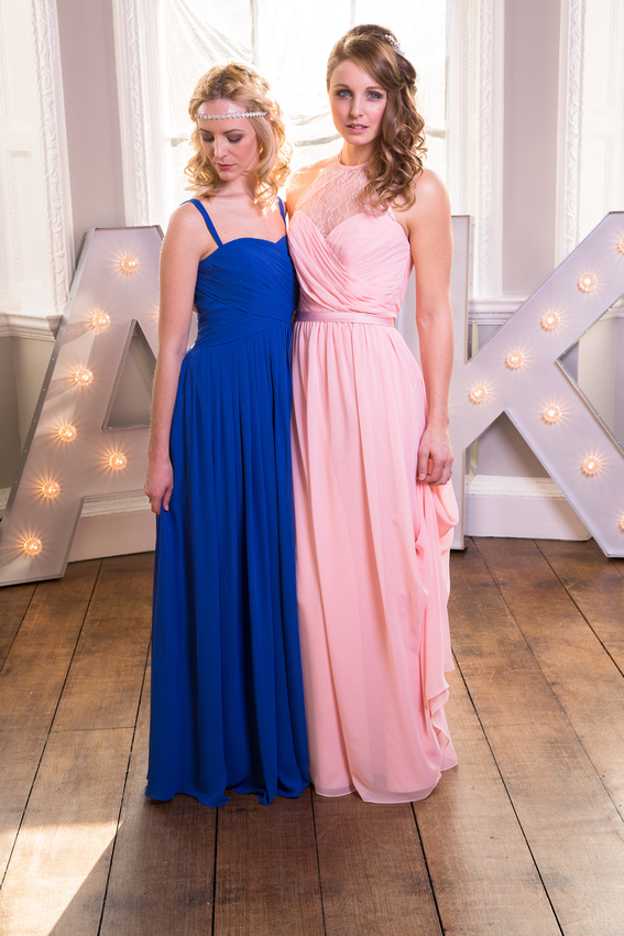 Cornwall wedding photographer, Scott Sharples at a photo shoot to show of the new bridesmaids dresses on offer at this Cornish bridal shop.