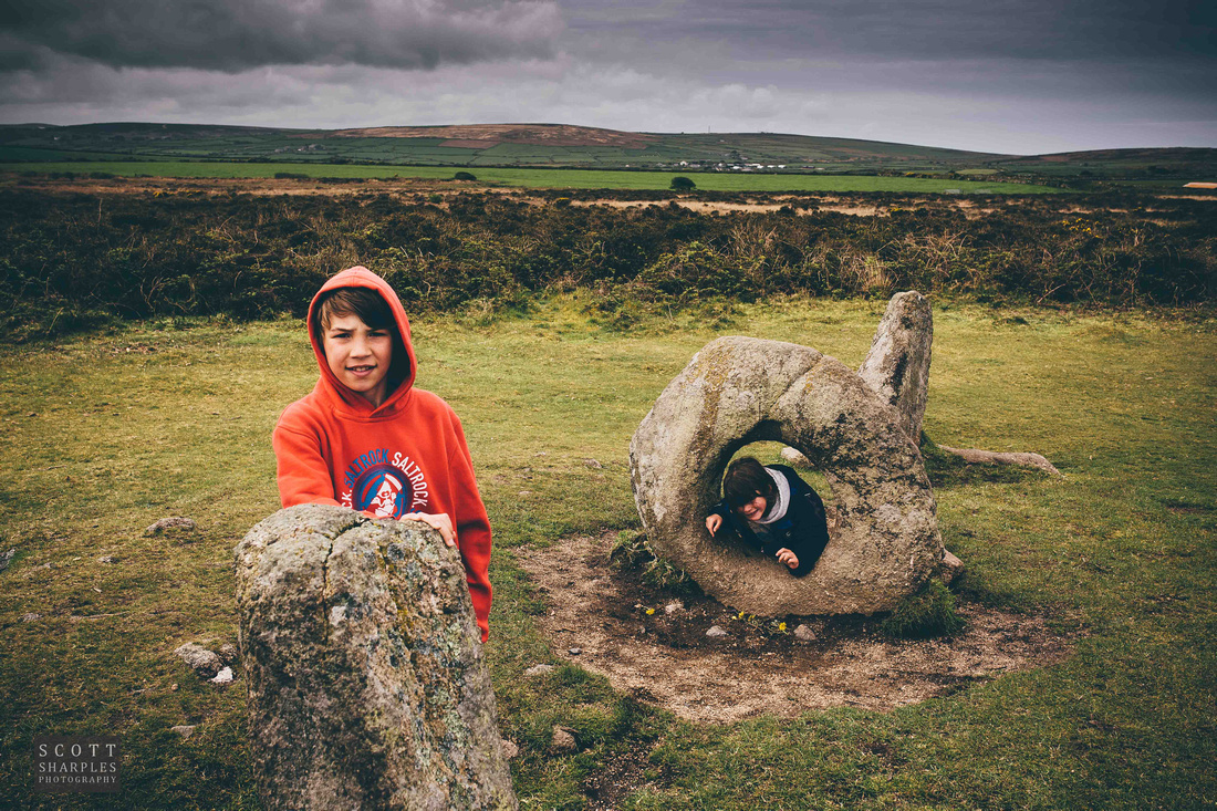 Men-an-tol, the famous ancient stone formation in west Cornwall