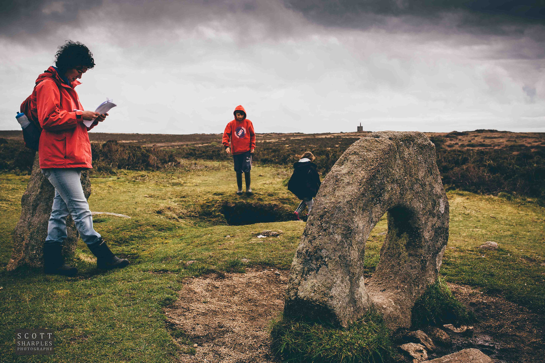 Ancient stone monument on the west penwith moorland, the Men-an-tol