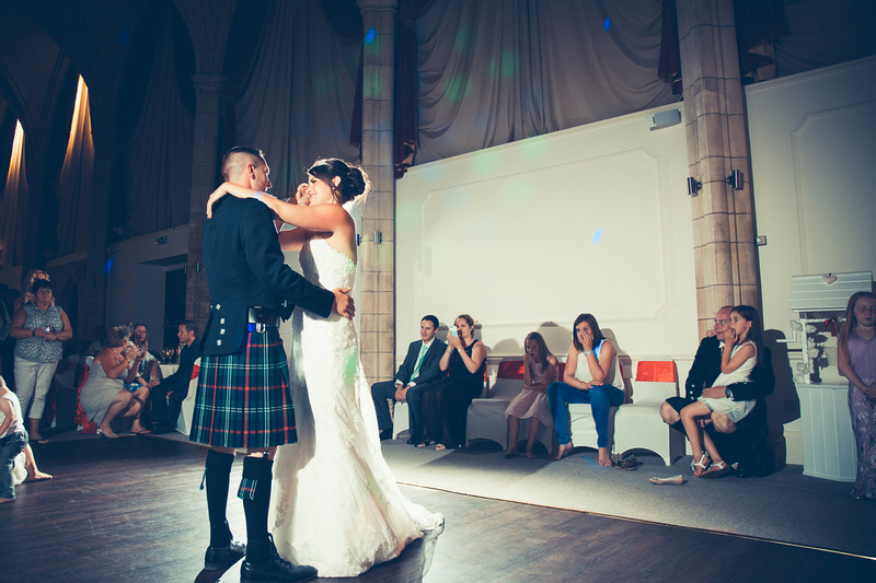 Bride and Groom take to the dance floor for their first dance