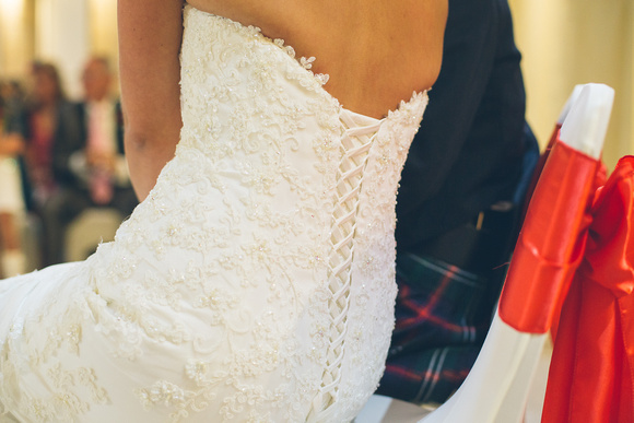 stunning detail and lacing on the wedding dress