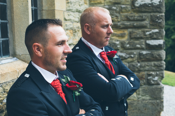 Groom and Best Man before the ceremony
