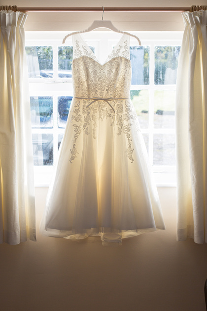 The wedding dress Cate chose was from County Cream in Truro and looked amazing